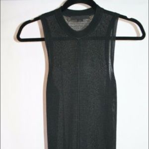 T by Alexander Wang knit sheer sleeveless shirt